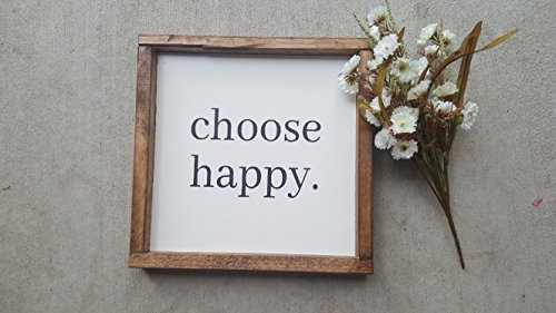 CHOOSE HAPPY WOOD SIGN ()