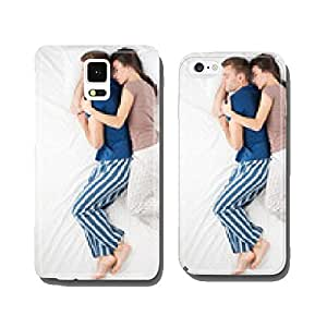 Top view photo of sleeping couple cell phone cover case iPhone6 Plus