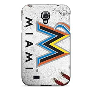Samsung Galaxy S4 WNx15624EnVX Support Personal Customs Vivid Miami Marlins Skin Shockproof Hard Phone Cases -NataliaKrause