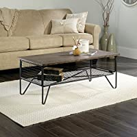 Sauder New Grange Coffee Table in Walnut