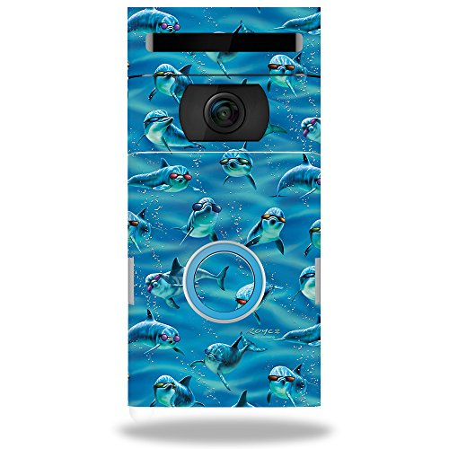 MightySkins Skin Compatible with Ring Doorbell 2 - Dolphin Gang | Protective, Durable, and Unique Vinyl Decal wrap Cover | Easy to Apply, Remove, and Change Styles | Made in The USA
