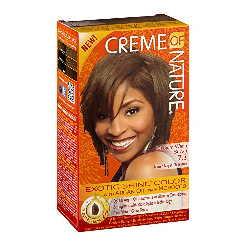 Creme of Nature Exotic Shine Color, Medium Warm Brown, 7.3 Fluid Ounce