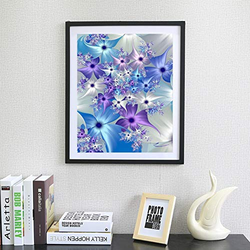 WISREMT Diamond Painting Kits for Adults, DIY 5D Full Drill Embroidery Cross Stitch Arts Craft for Home Wall Decor & Kids Gifts - Flower 30x40CM
