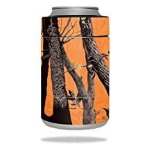 MightySkins Protective Vinyl Skin Decal for YETI Rambler Colster wrap cover sticker skins Orange Camo