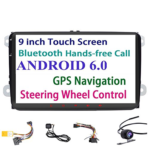 For Volkswagen 9 inch HD Touch Screen Head Unit Android 6.0 GPS Navigation Car Stereo Radio Built in Bluetooth FM WIFI For Bora Jetta Tiguan Golf Polo