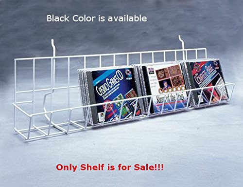Case of 4 New Black Finished Slatwall CD/DVDs Shelf 48