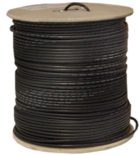 C&E 1000 feet 18AWG Direct Burial CCS RG6 60% Outdoor Coaxial Cable (Direct Burial Coaxial Cable)