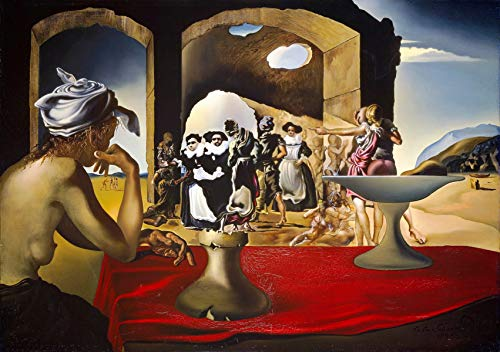 Salvador Dali - Slave Market with The Disappearing Bust of Voltaire, Size 24x36 inch, Poster Art Print Wall décor (Slave Market With Disappearing Bust Of Voltaire)