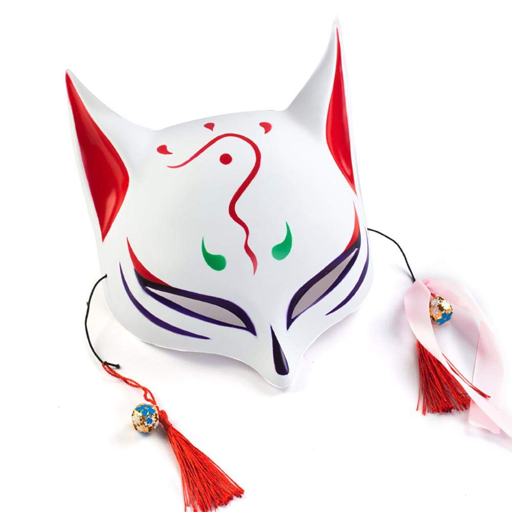Halloween Masken Leuchtende Maske LED Glühende Horror Fuchs-Monster Cosplay Kostüm Maske EL Draht Leuchtmaske Grimasse LED Maske für Bar KTV für Karneval Festival Party iBelly