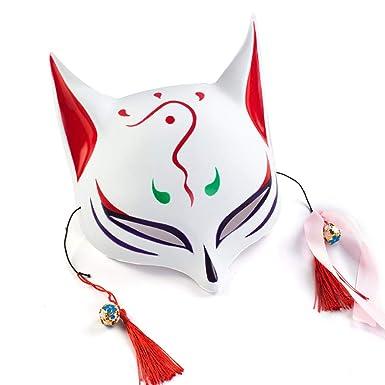 WangWtry Máscara Luminosa Zorro Máscara Radiante Halloween El Frío Luz Resplandor Máscara LED se Enciende Máscara