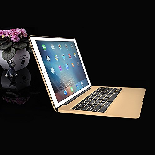 MOSTOP iPad Pro 12.9-inch Keyboard Bluetooth 7-color LED Backlit Slim Aluminum Wireless Keypad with Built-in 5600mAh Power Bank for iPad Pro 12.9'' (Gold) by MOSTOP (Image #7)'