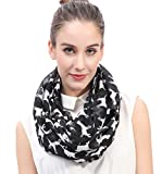 Lina & Lily Labrador Dog Print Women's Infinity Scarf Lightweight (Black)