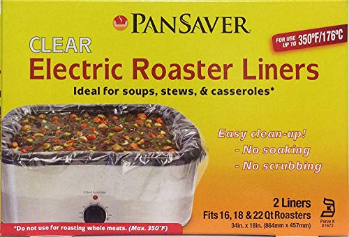 PanSaver Electric Roaster Liners. Fits 16, 18, 22 Quart Roasters 10 Pack of Liners(5 boxes of 2 bags each)
