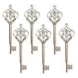 Makhry Mixed 30 Vintage Skeleton Keys Heart-shape Decorative Key Wedding Party Favor Home Decor (Silver)
