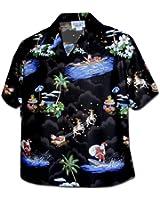 Pacific Legend Women's Christmas Santa Claus Hawaiian Shirt