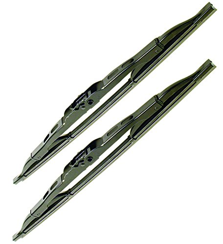 Std Wiper (EMPI WIPER BLADE PACKAGE, LEFT & RIGHT, BLACK, TYPE 1 VW STD. BUG BEETLE, 1973-79, SUPER BEETLE '71-72, 98-9549/50-B, PAIR)