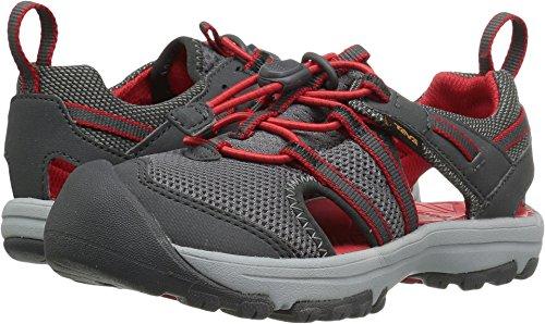 Teva Boys' Y Manatee Sport Sandal, Charcoal Grey, 6 M US Big Kid (Mesh Teva Sandals)