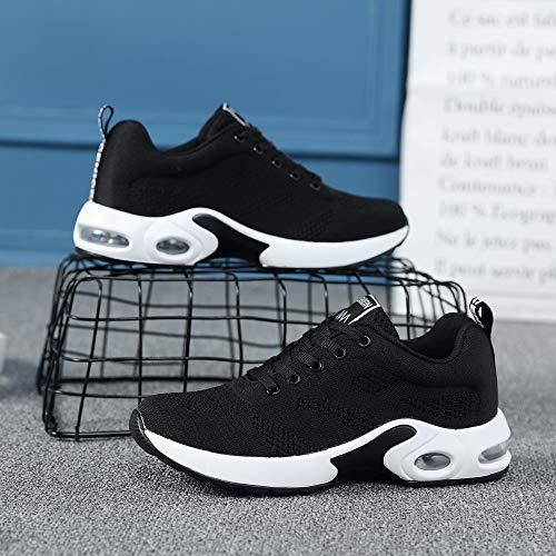 De Casuales Tejidos Zapatos De CóModo De Malla Zapatos Deporte Zapatillas De Voladores Gimnasia Deportivos OHQ Negro Zapatillas Zapatos Transpirable Aluminio a7wqq