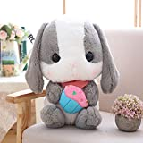 CactusAngui Cute Rabbit Soft Plush Toy Stuffed Animal Bunny Doll Sleeping Pillow Girls Gift 30cm 3