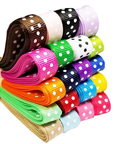 Q-YO Sparkle/Satin/Grosgrain/Autism Ribbon for Dance, Floral Designs, Gift Wrapping, Sewing. (40yd(20x2yd) 3/8