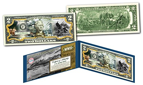 PEARL HARBOR World War II Genuine Legal Tender U.S. $2 Bill - WWII Dec 7th 1941 ()