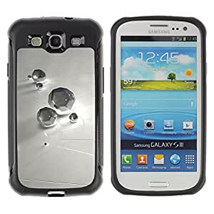 Pulsar Defender Series Tpu silicona Carcasa Funda Case para SAMSUNG Galaxy S3 III / i9300 / i747 , Abstract Diamond