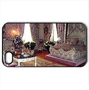 Amazing - Case Cover for iPhone 4 and 4s (Watercolor style, Black)