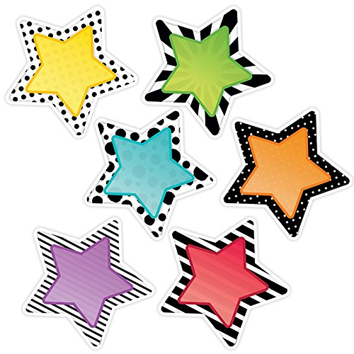 (Creative Teaching Press CTP5786BN 10 in. Bold Bright Stars Designer Cut-Outs - Pack of 3)