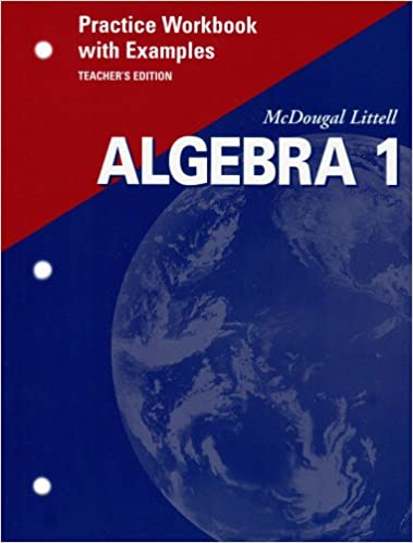 Amazon mcdougal littell algebra 1 practice workbook with mcdougal littell algebra 1 practice workbook with examples teachers edition teachers guide edition fandeluxe Image collections