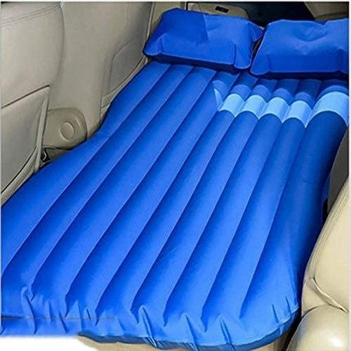 Travel Truck Inflatable Car Air Mattress with Pump Vacation Portable Minivan SUV Camping Rear Seat Blow-Up Sleeping Pad Compact Twin Size,Blue