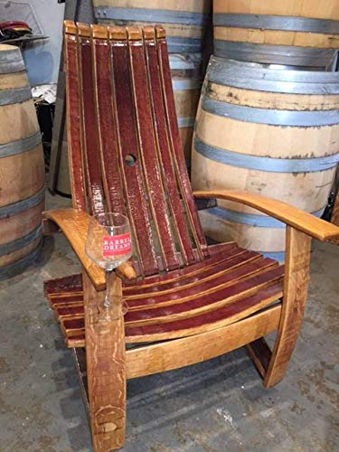 Amazoncom Wine Barrel Adirondack Chair Garden Outdoor