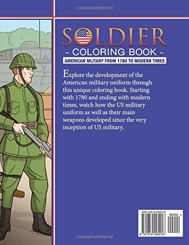 Soldier Coloring Book: American Military from 1780 to Modern Times ...