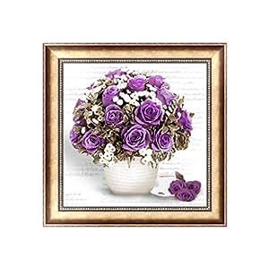 Bottone DIY 5D Flower Diamond Embroidery Painting Rhinestone Cross Stitch Decor Gift