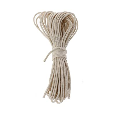 1mm Waxed Cotton Cord for Jewelry Making, Baby Teether Accessories Rope Waxed Twisted String Thread Line for DIY Teething Toys : Baby [5Bkhe0305815]