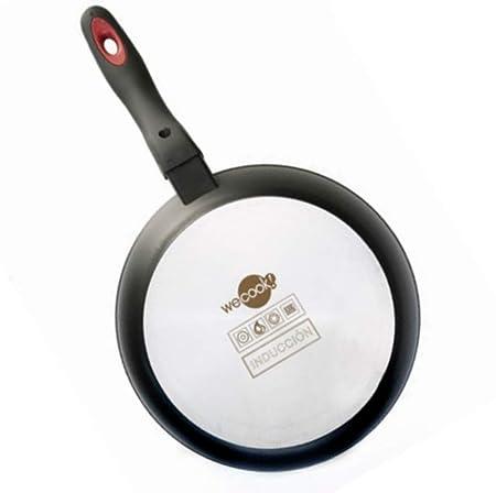 WeCook 10030 Sarten Grill Antiadherente Induccion Vitrocerámica y Fogón, Aluminio, 22 cm, Sin PFOA ni BPA