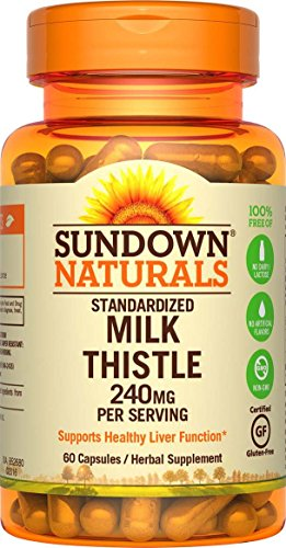 Sundown Naturals Milk Thistle 240 mg, 60 Capsules