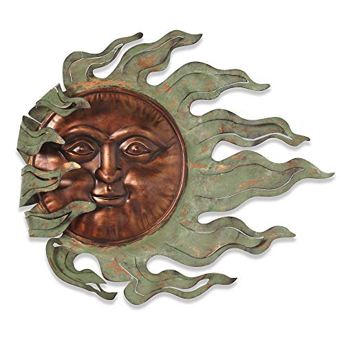 GIL 2071130 26.7InL Sun Face Wall Hanging Spring 25InL x 2.5InW x 22InH Multicolor (Wall Sun Face Art Outdoor)