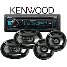 """Kenwood KDC-BT365U CD Receiver w/ Bluetooth and 1 Pair of Pioneer TS-165P 6.5"""" & 1 Pair of TS-695P 6x9"""" Speakers and a FREE SOTS Air Freshener"""