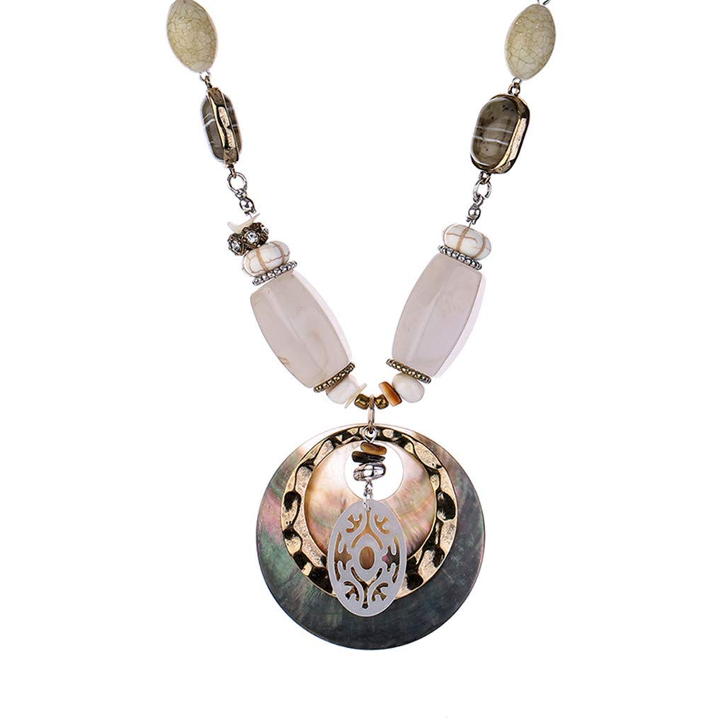 HCDjgh Lockets Necklaces for Women Fashion Europe and America Personality Creative Necklace Ladies Fashion Pendant Retro Collar