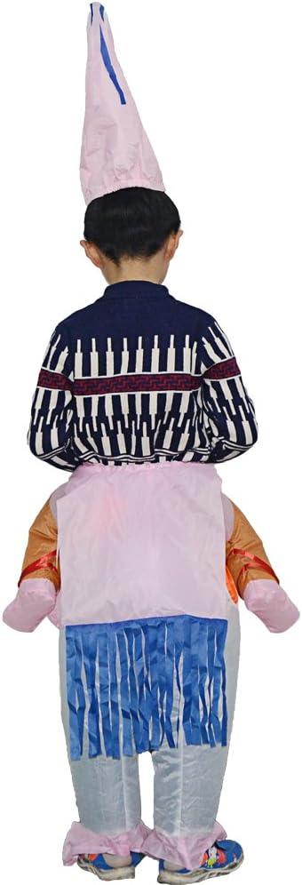 Addio al Celibato o Halloween thematys Costume Unicorno Gonfiabile Divertente Costume ad Aria con Cappello per Bambini 100cm-140cm Perfetto per Carnevale