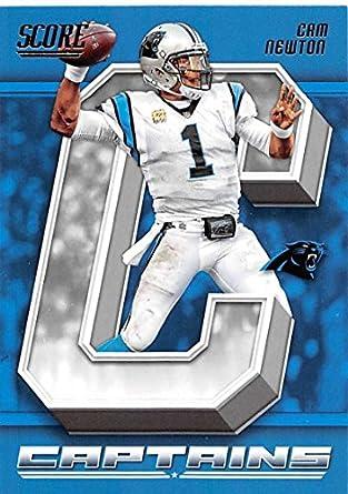 776e7194 Amazon.com: 2018 Score Captains #2 Cam Newton Carolina Panthers ...