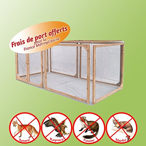 Park anti-pédateur für Kaninchen Turtles–50x 200x 100cm