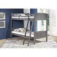 DONCO Kids 2010TTAG Louver Bunk Bed, Twin/Twin, Antique Gray