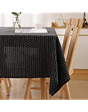 Deconovo Waterproof Tablecloth with Stripes Pattern