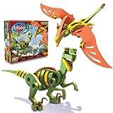 Bloco Toys Velociraptor and Pterosaur