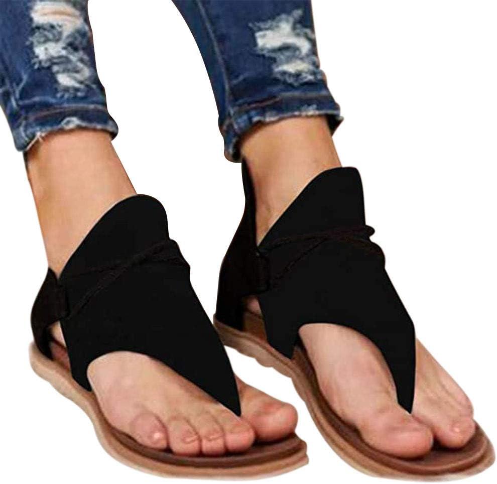INNOVEN Womens Gladiator Sandals Posh Comfy Flip Flop Flat Summer Beach Open Toe Sandlas with Back Zipper