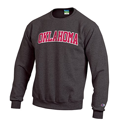 Champion Men's Eco Powerblend Crew Neck Sweat Shirt, Granite Heather, - Sweatshirt Crew Oklahoma