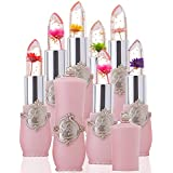 Alonea Bright Flower Crystal Jelly Lipstick Magic Temperature Change Color Lip (Mixed - Pack of 6)