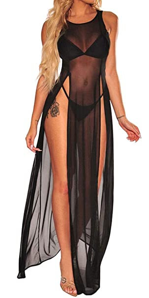 Amazon.com: LaCouleur traje de baño de malla transparente ...