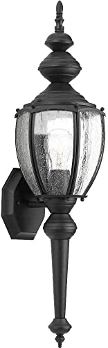 Progress Lighting P5767-31 Traditional One Light Wall Lantern from Roman Coach Collection in Black Finish